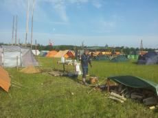Spejdernes Lejr 2012 - Klow´s lejr tager form