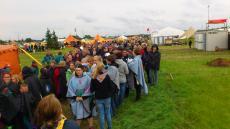 Spejdernes Lejr 2012 - Spejdere på vej til åbningsceremoni