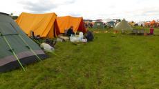 Spejdernes Lejr 2012 - teltene rejst i Klow lejren